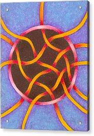 Life Goes On Mandala Acrylic Print