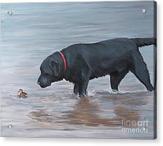 Life Guard Acrylic Print by Charlotte Yealey