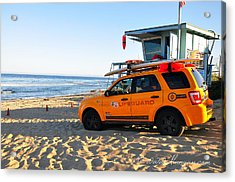 Acrylic Print featuring the digital art Life Guard  by Gandz Photography