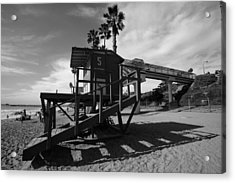 Life Guard Stand Acrylic Print by Paul Scolieri