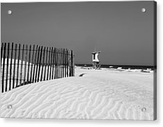 Life Guard Tower Acrylic Print by Denis Lemay