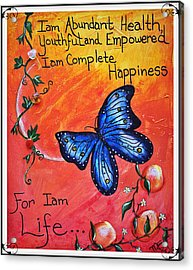 Life - Healing Art Acrylic Print by Absinthe Art By Michelle LeAnn Scott