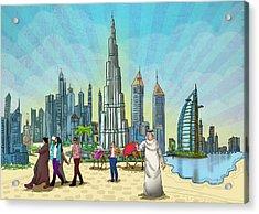 Life In Dubai Acrylic Print