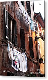 Life In Trastevere Acrylic Print by John Rizzuto