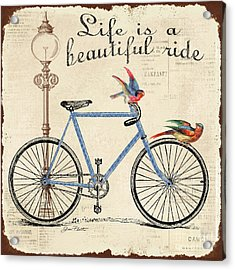 Life Is A Beautiful Ride Acrylic Print by Jean Plout