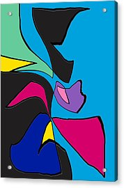 Original Abstract Art Painting Life Is Good By Rjfxx.  Acrylic Print by RjFxx at beautifullart com