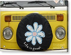 Life Is Good With Vw Acrylic Print