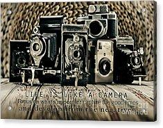 Life Is Like A Camera Acrylic Print
