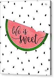 Life Is Sweet - Watermelon Acrylic Print