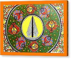 Life Of Tree-madhubani Painting Acrylic Print