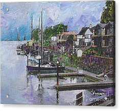 Alameda Life On The Estuary Acrylic Print by Linda Weinstock