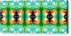 Life Patterns 1 - Abstract Art By Sharon Cummings Acrylic Print by Sharon Cummings