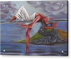 Life Requires Balance Acrylic Print by D Rogale