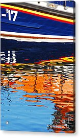 Lifeboat Reflections Acrylic Print