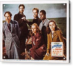 Lifeboat, Us Lobbycard, Clockwise Acrylic Print by Everett