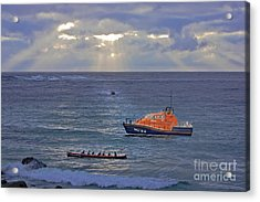 Lifeboats And A Gig Acrylic Print
