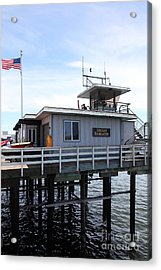 Lifeguard Headquarters On The Municipal Wharf At Santa Cruz Beach Boardwalk California 5d23827 Acrylic Print by Wingsdomain Art and Photography