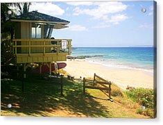Lifeguard Hut On The Beach Acrylic Print