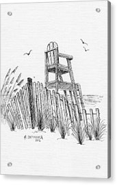 Lifeguard Stand Acrylic Print