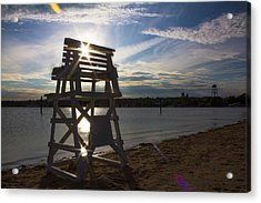 Lifeguard Stand Silhouette  Acrylic Print