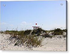 Acrylic Print featuring the photograph Lifeguard Station by Chris Thomas
