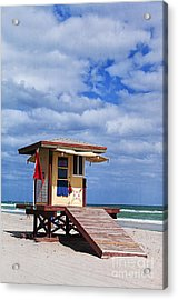 Lifeguard Station In Hollywood Florida Acrylic Print