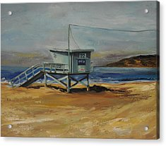Lifeguard Station Twenty Two Acrylic Print
