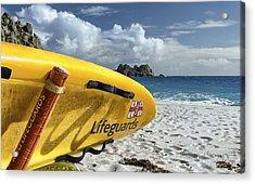 Surfboard In Cornwall Acrylic Print