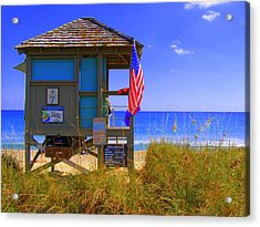 Acrylic Print featuring the photograph Lifeguard by Artists With Autism Inc