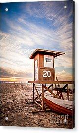 Lifeguard Tower 20 Newport Beach Ca Picture Acrylic Print