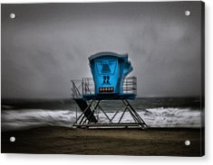 Lifeguard Tower Series - 12 Acrylic Print by James David Phenicie
