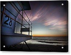 Lifeguard Tower Series - 21 Acrylic Print by James David Phenicie