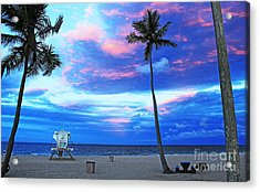 Life's A Beach Acrylic Print by Alison Tomich