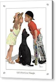 Life's First Love Triangle Acrylic Print