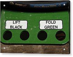 Lift Black Fold Green Acrylic Print by Christi Kraft
