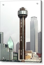 Lifting Fog On Dallas Texas Acrylic Print by Robert Frederick