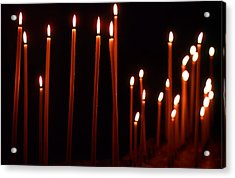 Light A Candle Say A Prayer Acrylic Print