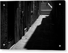Acrylic Print featuring the photograph Light And Shadow - Venice by Lisa Parrish