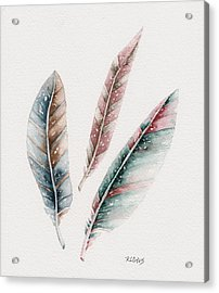 Acrylic Print featuring the painting Light As A Feather by Rebecca Davis