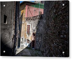 Acrylic Print featuring the photograph Light At The End Of The Alley by Uri Baruch