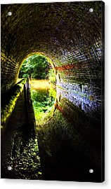 Light At The End Of The Tunnel Acrylic Print by Meirion Matthias