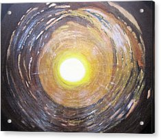 Light At The End Of The Tunnel Acrylic Print by Waheeda Ramnath