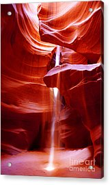 Light Beam At Antelope Canyon Acrylic Print
