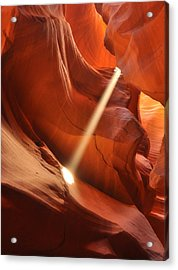 Light Beam In Canyon Acrylic Print by Nian Chen