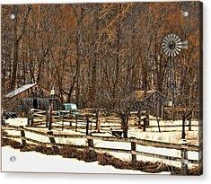 Light Blue Pickup Acrylic Print by Jeff Breiman