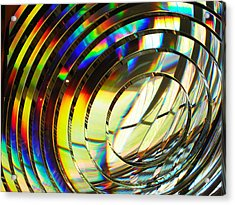 Light Color 1 Prism Rainbow Glass Abstract By Jan Marvin Studios Acrylic Print