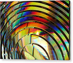 Light Color 2 Prism Rainbow Glass Abstract By Jan Marvin Studios Acrylic Print