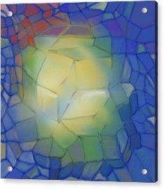 Acrylic Print featuring the digital art Light Cubes Away by Constance Krejci