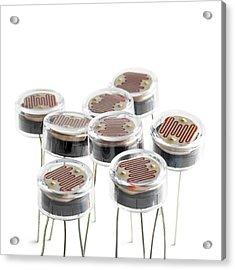 Light Dependent Resistors Acrylic Print by Science Photo Library
