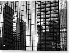 Light Fading In Downtown Tokyo Acrylic Print by Dean Harte
